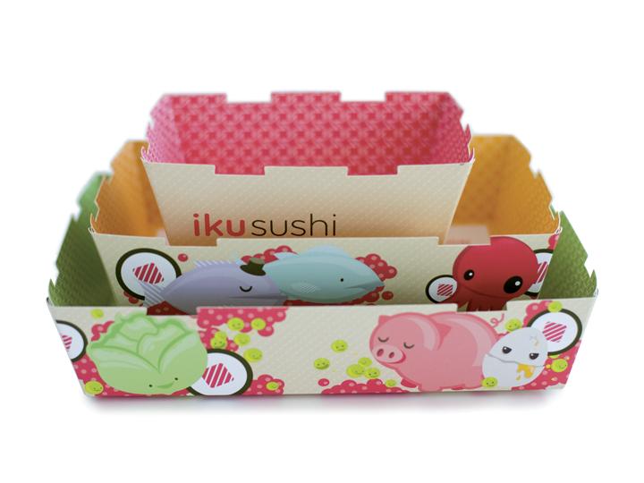Iku Sushi packaging