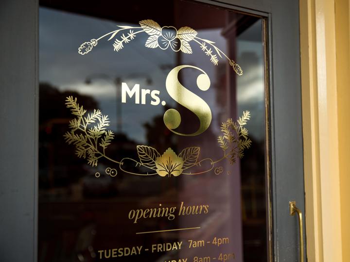 Mrs S front door
