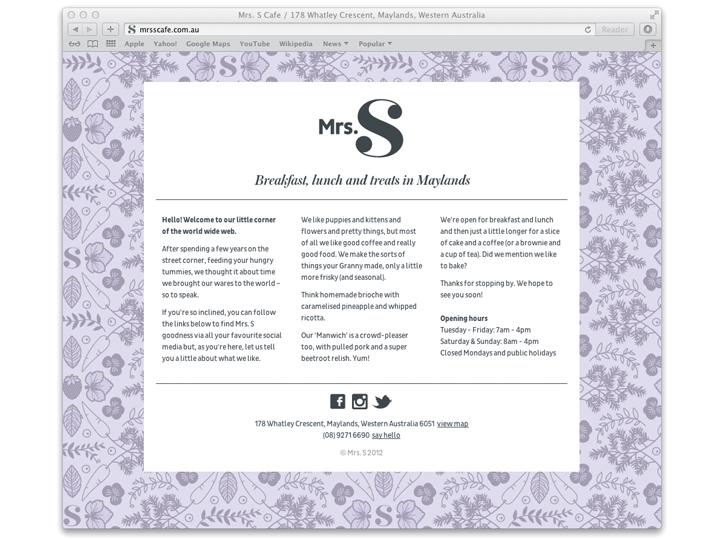 Mrs S website