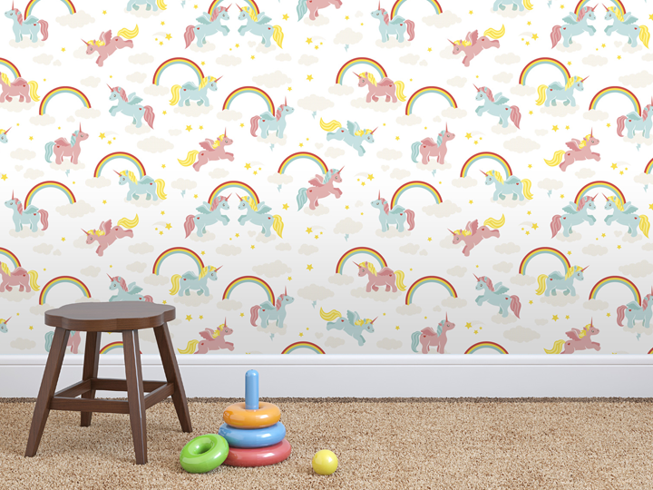 Rainbows and Unicorns wallpaper