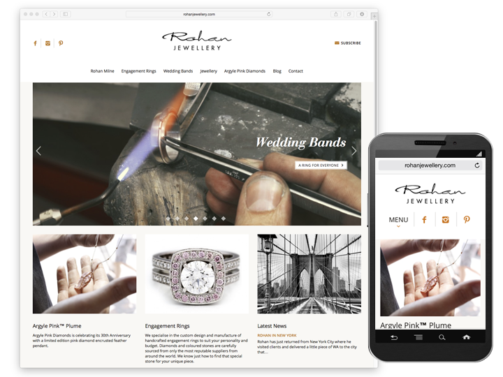 Rohan Jewellery website