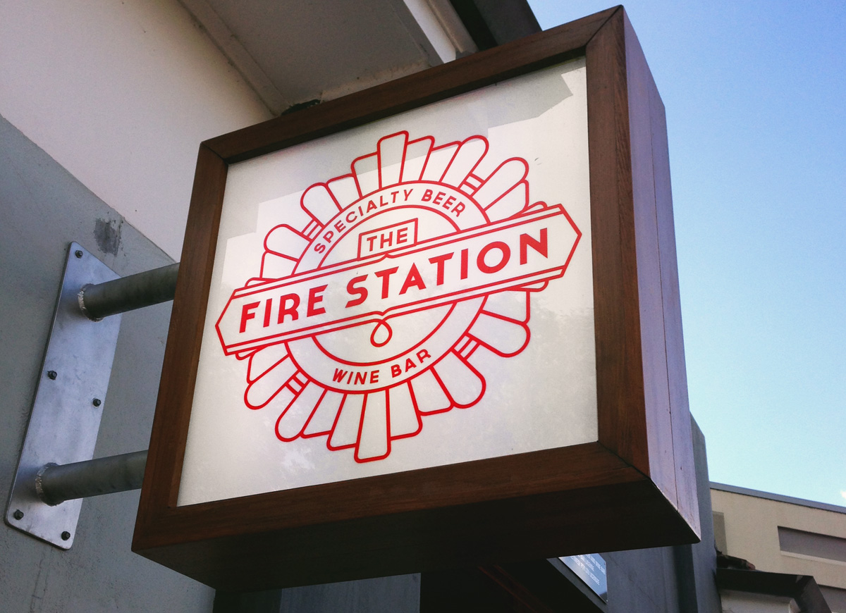 The Fire Station signage